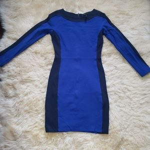 BCBGMAXAZRIA Blue Bodycon Dress